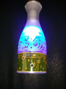 lamp graveeritud ja maalitud